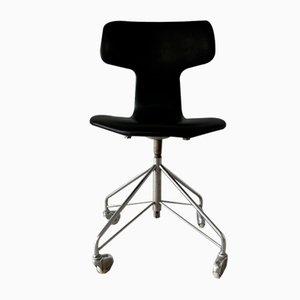 Chaise de Bureau Pivotante Modèle 3113 Vintage par Arne Jacobsen pour Fritz Hansen, 1960s