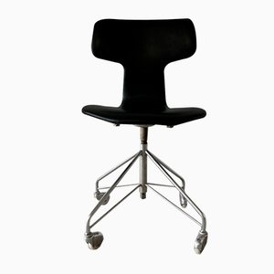 Vintage Model 3113 Swivel Office Chair by Arne Jacobsen for Fritz Hansen, 1960s
