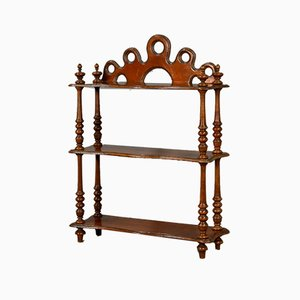 Antique French Cherry Wood Display Shelf