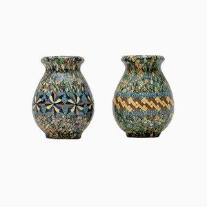 Vases en Céramique et Mosaïque par Jean Gerbino pour Vallauris, 1960s, Set de 2