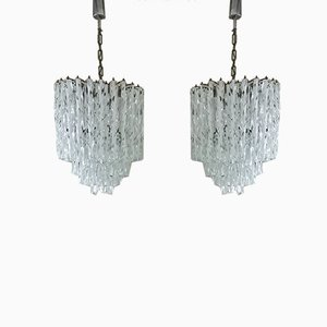 Mid-Century Italian Murano Glass Pendant Lamps from Venini, 1960s, Set of 2