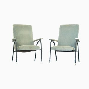 Vintage Woven Metal Armchairs, 1960s, Set of 2