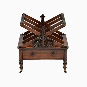Antique Regency Rosewood Canterbury Magazine Stand