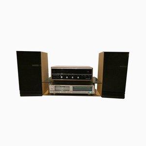 HiFi con amplificador Scott 299-S, base para amplificador, Marantz CD-73 CD Player y Epicure Model 5 de Scott, Marantz, Epicure para Scott. Juego de 5