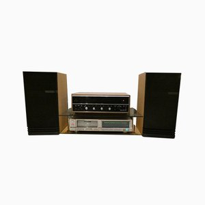 HiFi con Scott 299-S Amplifier, Amplificatore, Marantz CD-73 CD Player e Epicure Model 5 di Scott, Marantz, Epicure per Scott, set di 5