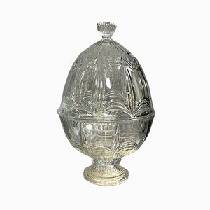 Crystal Champagne Container with Engraved Crystal Egg from Baccarat, 1970s
