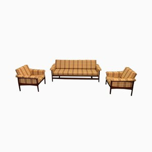 Set with Sofa & Armchairs, 1960s, Set of 3