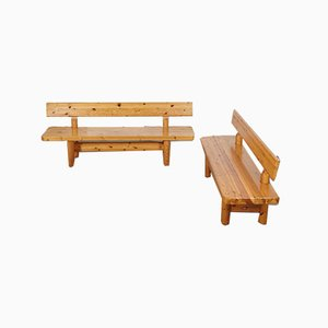 Pine Benches by Knud Friis & Elmar Moltke Nielsen for Friis & Moltke, 1960s, Set of 2