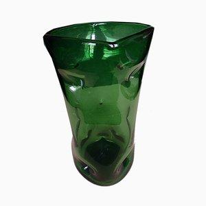 Vintage Green Glass Vase, 1960s