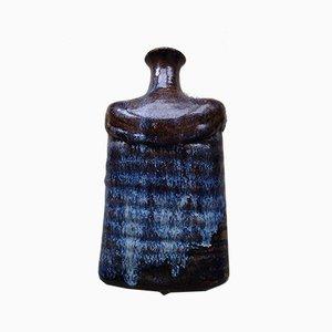 Blue and Brown Ceramic Vase, 1973
