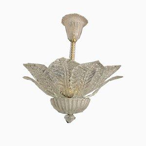 Lampada da soffitto in vetro di Murano di Barovier & Toso, anni '40