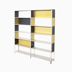 Modernist Double Bookcase by Friso Kramer for Asmeta, 1953