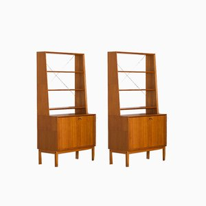 Danish Bookcases in Teak in the Style of Christian Linneberg, 1960s, Set of 2
