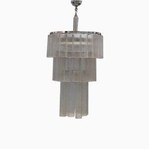Italian Tube Chandelier from Venini, 1960s