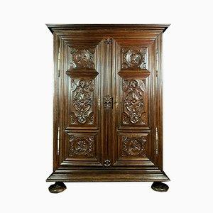 Louis XIII Solid Walnut Wardrobe