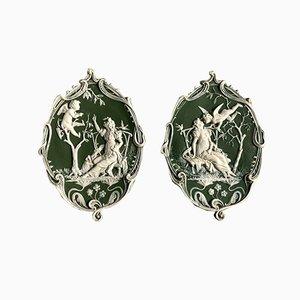 Antique Wedgwood Medallions, Set of 2