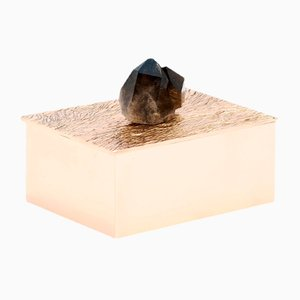 Handcrafted and Polished Cast Bronze and Black Quartz Nicks Box