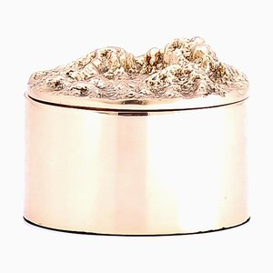 Handcrafted and Polished Cast Bronze Pearl Box Ashtray