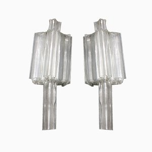 Italian Wall Sconces from Venini, 1960s, Set of 2