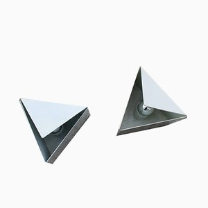 Triangle Table Lamps from Lamperti, 1970s, Set of 2