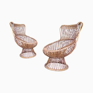Mid-Century Lounge Chairs by Franco Albini, Set of 2