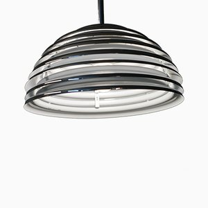 Vintage Saturno Chrome Ceiling Lamp by Kazuo Motozawa for Staff