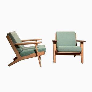 GE-290 Lounge Chairs von Hans J. Wegner, 1950er Jahre, 2er-Set