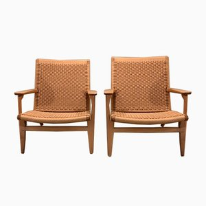 Model CH25 Lounge Chairs by Hans J. Wegner, 1950s, Set of 2