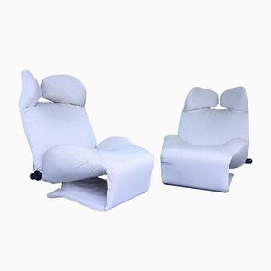 Vintage Poltrona 111 Wink Chaise Lounges by Toshiyuki Kita for Cassina, Set of 2
