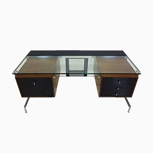 Bespoke 1969 Model JK 702 Executive Desk by Jørgen Kastholm for Kill International, 1960s, Set of 2
