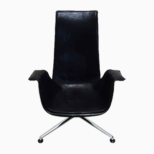Leather Reclining Tulip Chair by Preben Fabricius & Jørgen Kastholm for Kill International, 1960s