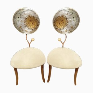 Italian Postmodern Dining Chairs in the style of Mendini & Fornasetti, 1990s, Set of 2