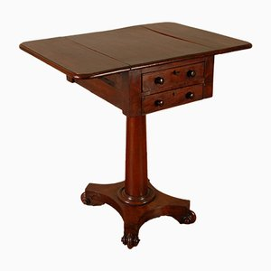 English William IV Rosemood Pembroke Side Table