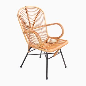 Vintage Bamboo Lounge Chair from Rohé Noordwolde, 1950s