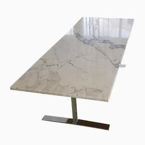 Marble Coffee Table with Chrome Feet, 1960s