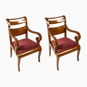 Maple Lounge Chairs, Set of 2