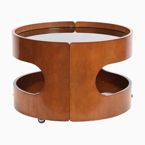 Italian 2-Level Bent Plywood Coffee Table by Tobia & Afra Scarpa for Cassina, 1970s