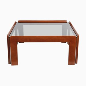 Italian Wood Square Coffee Table by Tobia & Afra Scarpa for Cassina, 1970s