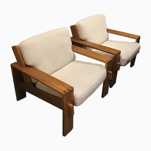 Armchairs by Pierre Chapo, 1960s, Set of 2