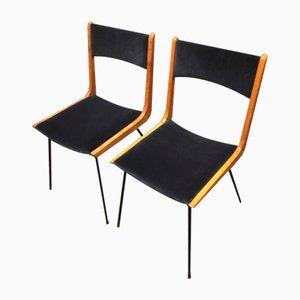 Boomerang Esszimmerstühle von Carlo de Carli, 1950er, 2er Set