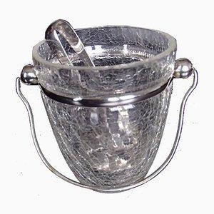 Ice Bucket with Ice Tongs, 1940s, Set of 2