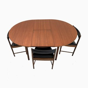 Dining Table & Chairs Set from McIntosh, 1960s, Set of 5