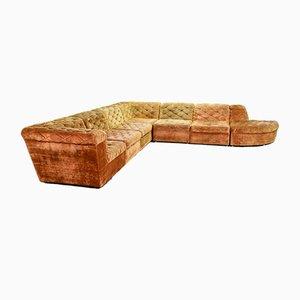 Modulares Kupfer Samt Sofa Set in Orange von Laauser, 1970er, 5er Set