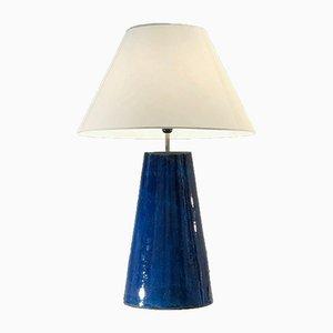Große Französische Keramik Stehlampe, 1980er