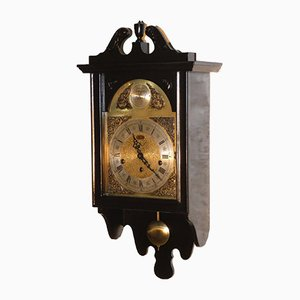 Melux Black Lacquer Tempus Fugit Pendulum Clock from Meazzi