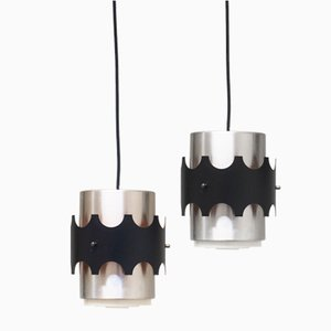 Vintage Danish Pendant Lights, 1960s, Set of 2
