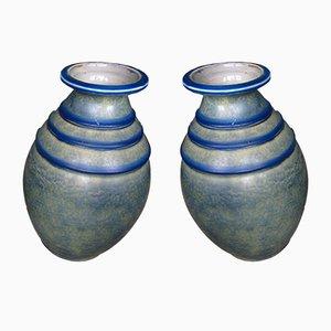Art Deco Ceramic Vases, 1930s, Set of 2