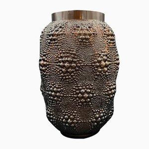Dark Topaz Glass Vase from Lalique, 1932