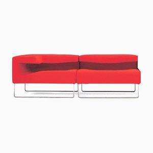 Canapé Lowseat Vintage Rouge par Patricia Urquiola pour Moroso, Set de 3