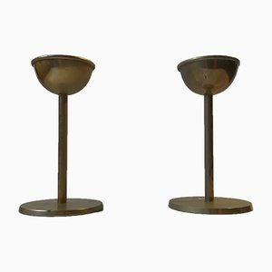 Mid-Century Danish Brass Candlesticks from Cawa, 1970s, Set of 2